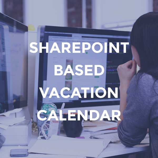 SharePoint-based Vacation Calendar