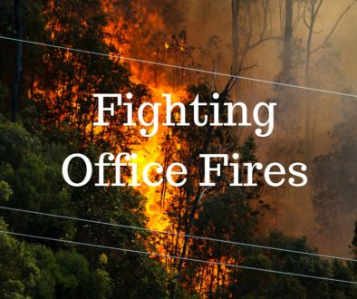 Fighting Fires vs. Good Forestry in the Office