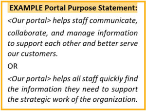Example Portal Purpose Statement