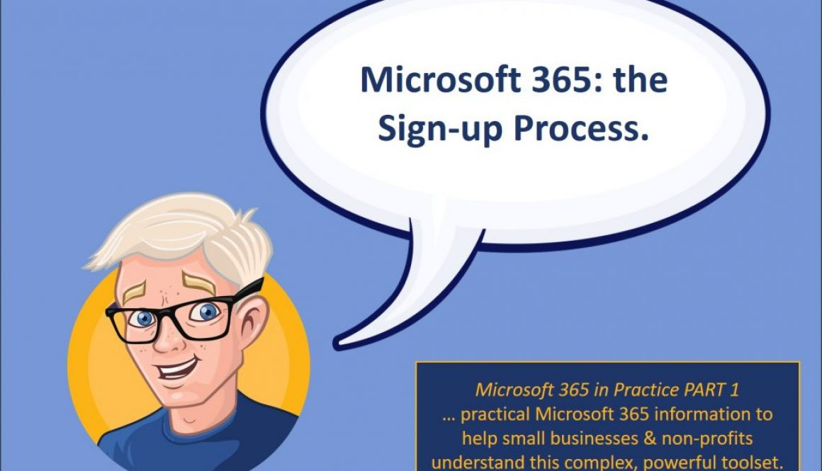 Microsoft 365 sign-up process